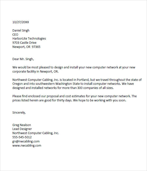 Business Proposal Business Proposal Letter Pdf 32 Sample Business