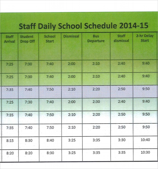 ... Daily Schedule Template - 17+ Free Documents in PDF, Word, Excel