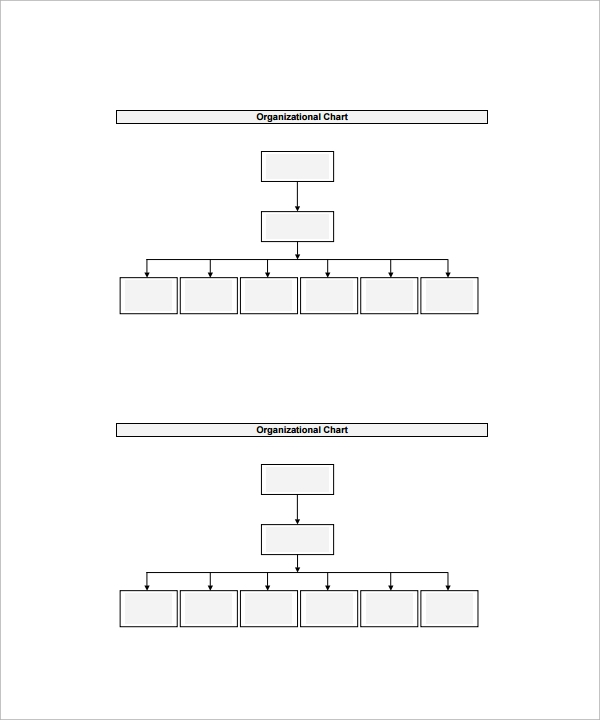 Organizational chart template 13 download free documents in word blank organizational chart template pdf ccuart