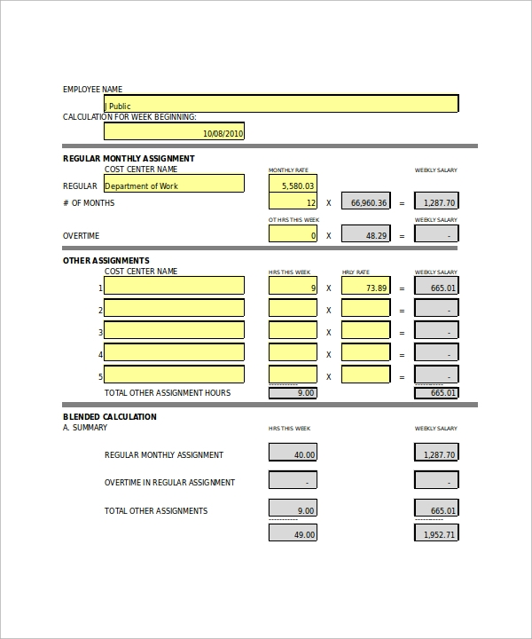 paycheck calculator with overtime