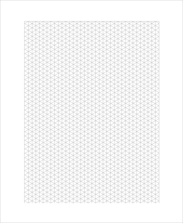 Isometric Graph Paper  Ms Word Graph Paper