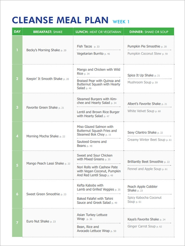 Sample Diet Menu Template - 13+ Free Documents In Pdf
