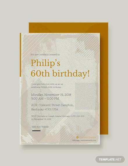63 Printable Birthday Invitation Templates