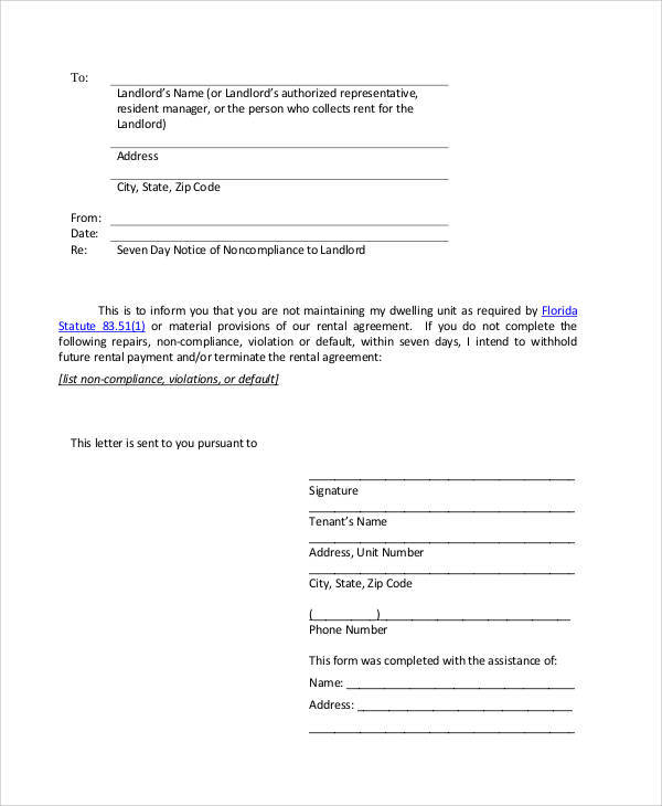 Sample Eviction Notice Template 37 Free Documents in PDF Word – Eviction Letter Template