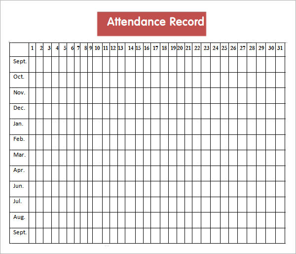 Attendance Sheet Templates 10 Download Free Documents in PDF – Employee Attendance Record Template