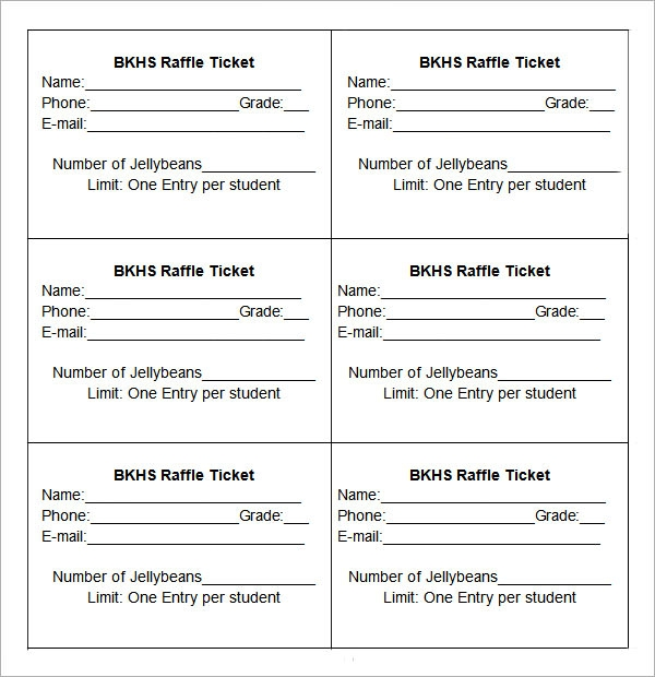 Raffle Ticket Templates – Raffle Ticket Maker
