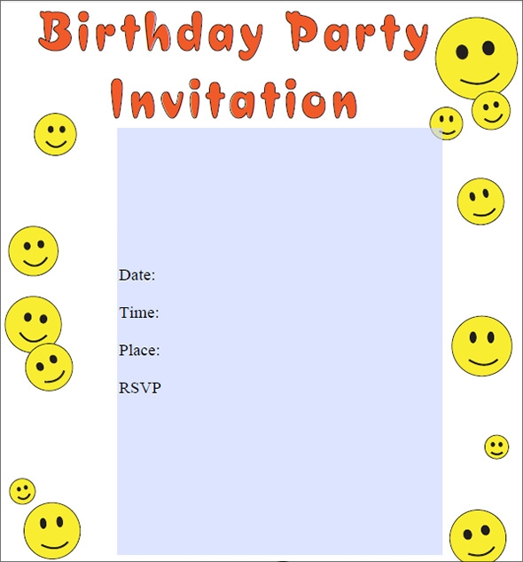 Sample Birthday Invitation Template 49 Documents in PDF PSD – Sample Kids Birthday Invitation