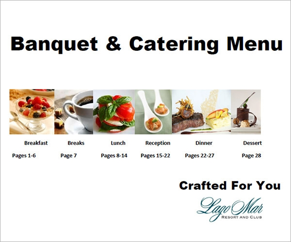 banquet menu design free template2