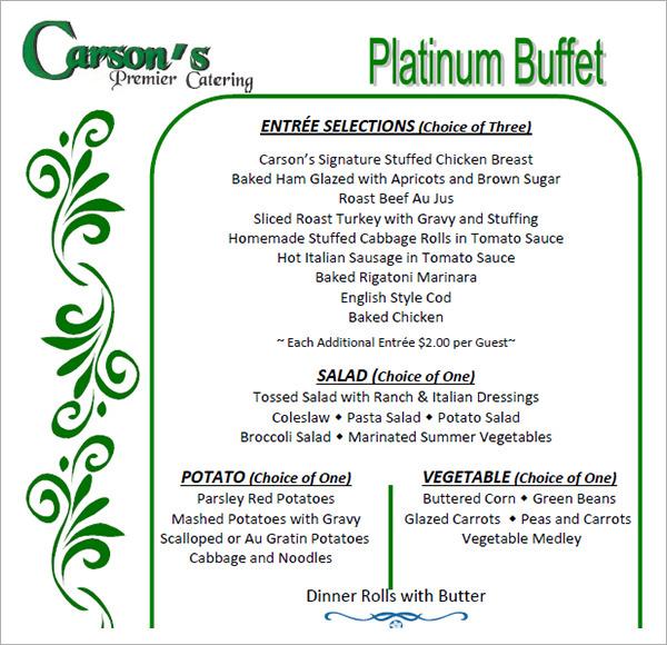 16 banquet menu templates psd pdf