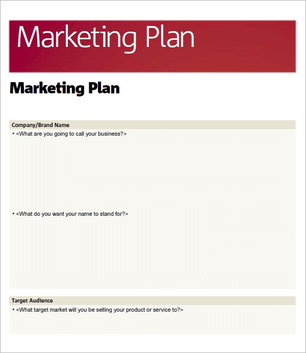 Sample marketing plan template 14 free documents in for Publicity plan template