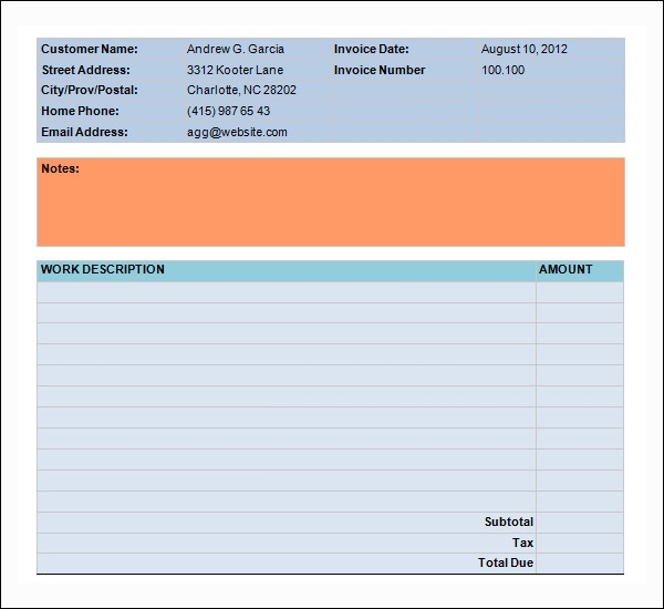 basic service invoice template2