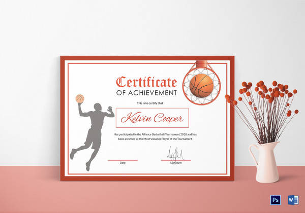 Basketball certificate template 14 free word pdf psd format image award certificate template 42 download in pdf word excel psd basketball award achievement certificate template freerunsca yelopaper Gallery