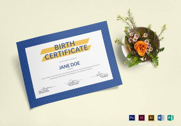 birth certificate template in ms word format