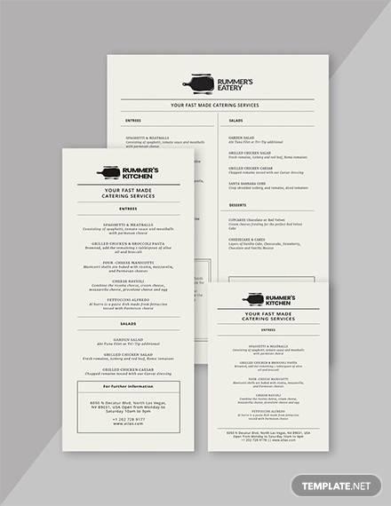 birthday dinner menu template
