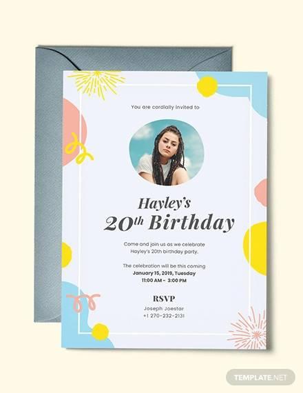 58 printable birthday invitation templates pdf psd word