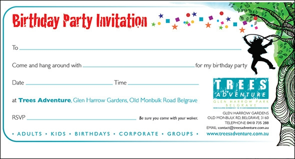 birthday invite glen
