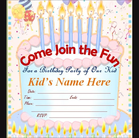 Sample Birthday Invitation Template - 40+ Documents in PDF, PSD ... Birthday for Kids free online invitation