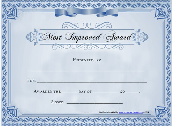 Award Certificate Template 29 Download in PDF Word Excel PSD – Blank Certificate Format