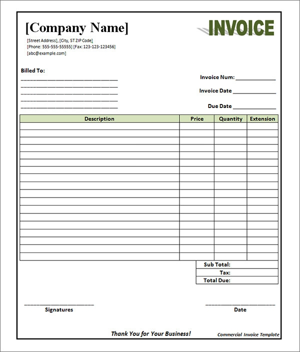 20  Blank Invoice Templates   Free Download in Word Excel PDF uOSKpx6Z