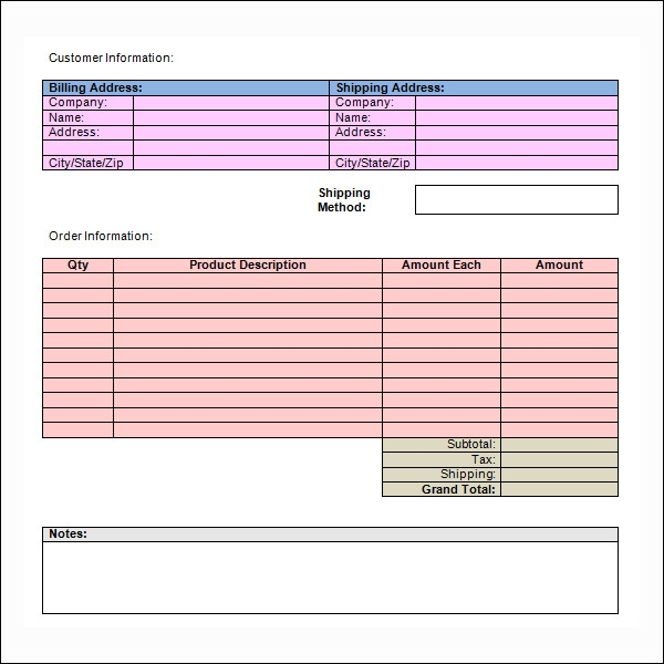 Blank Invoice Template - Empty invoice template