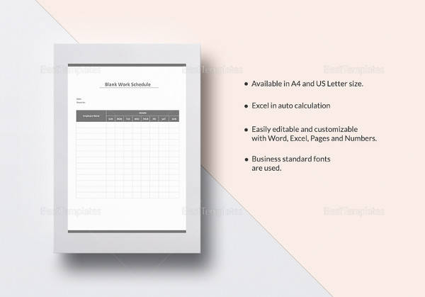 work schedule template 20 download free documents in pdf word excel