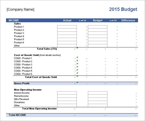sample budget proposal template .