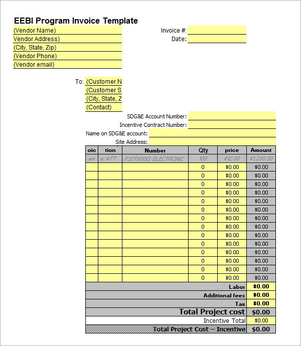business incentives invoice template2