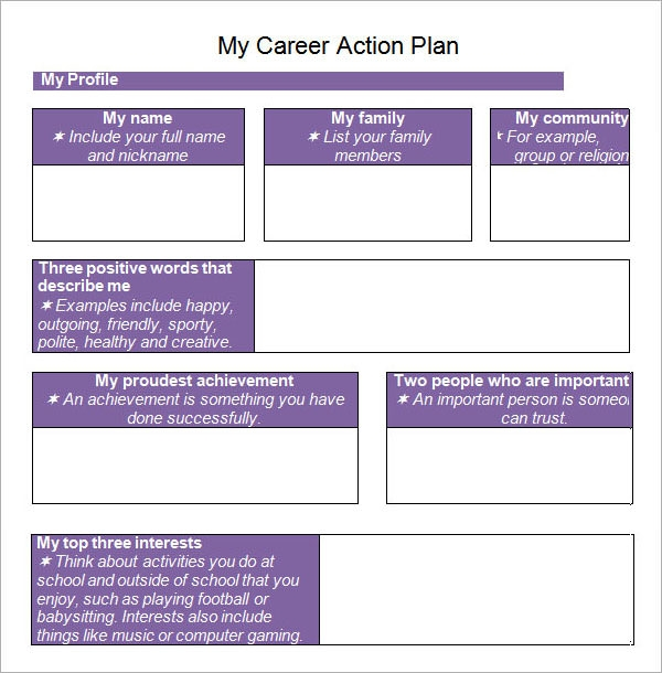 career action plan1