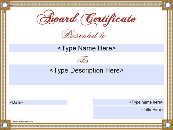 certificate for education templates