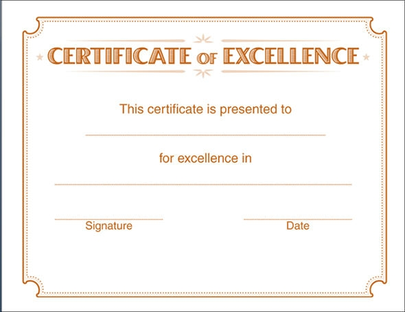 24 Printable Sample Certificate Templates | Sample Templates