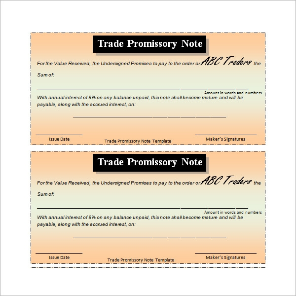 commercial promissory note template1
