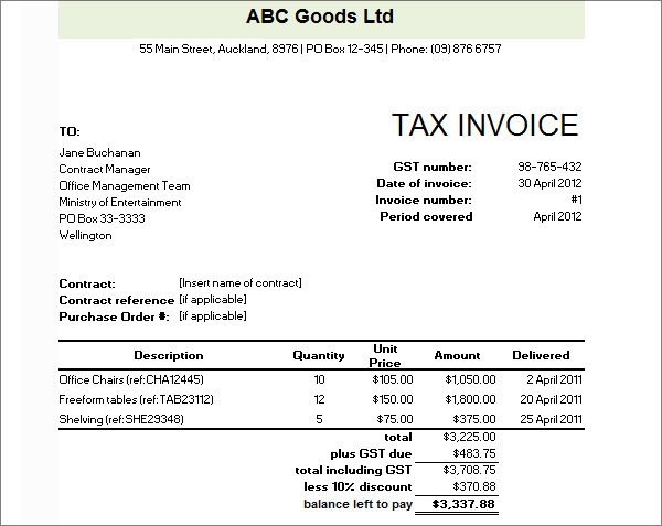 commercial invoice template word, Invoice examples