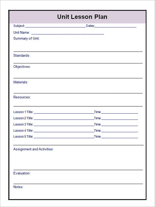 Plan Template. Daily Lesson Plan Template With Subject Grid ...
