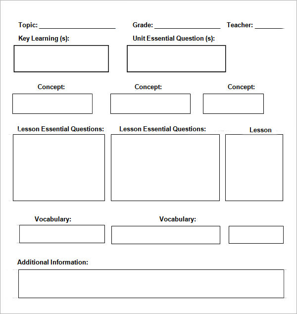 Daily Lesson Plan Template  Daily Planning Template