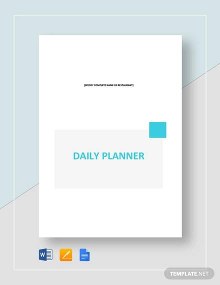 photograph relating to Daily Planner Template called Free of charge 9+ No cost Printable Every day Planner Templates inside of Google