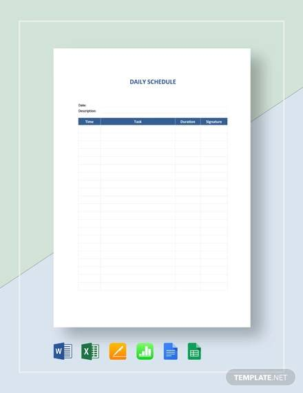 daily schedule template3