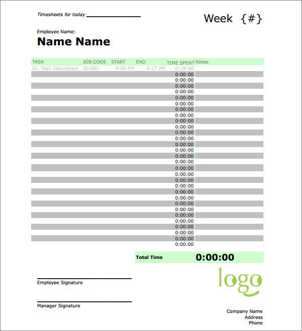 time sheet calculator templates