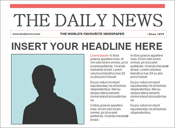 Free Newspaper Template