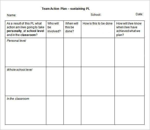 Great Action Plan Format Idea Free Action Plan Templates