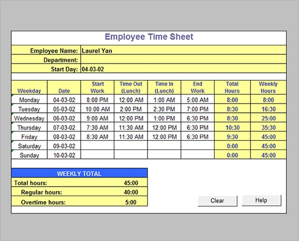Payroll Hours Calculator. Excel Busn Math 38: Gross Pay And ...