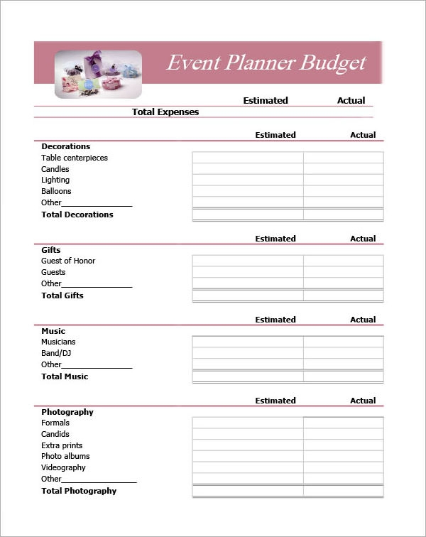 10 sample event planning templates sample templates With event planning organizer template