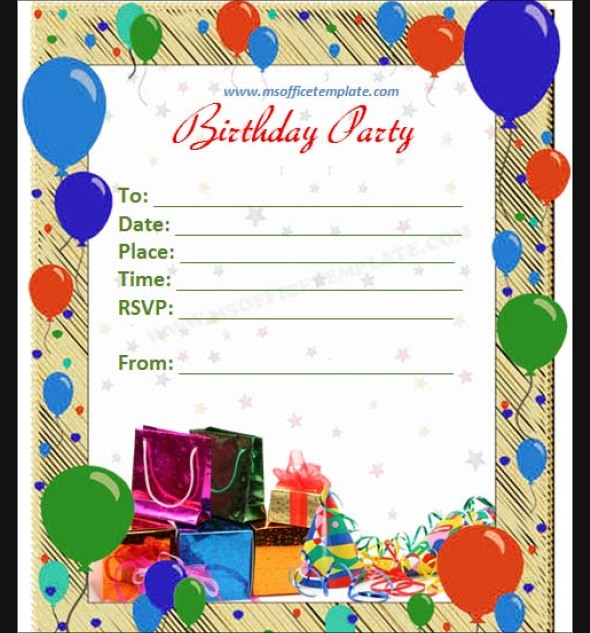 6 Birthday Card Templates: Sample Birthday Invitation Template
