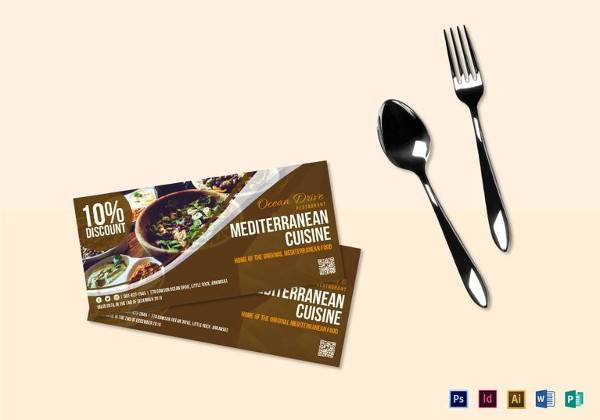 food cuisine coupon template