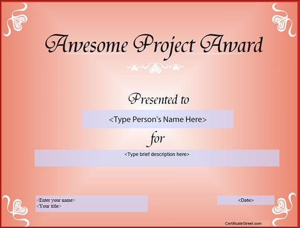 Captivating Free Certificate Templates For Students