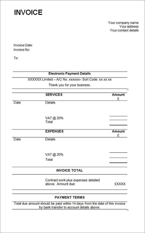 Sample Contractor Invoice Templates - 14+ Free Documents in Word ...