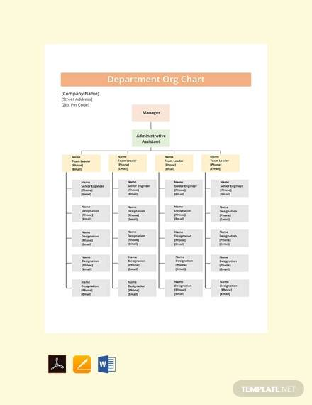 free department org chart template