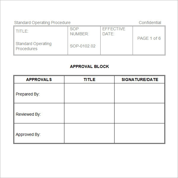 procedure manual template free download