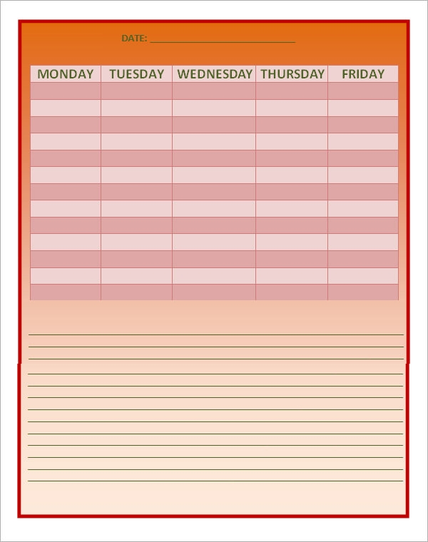 free excel template for work schedule1