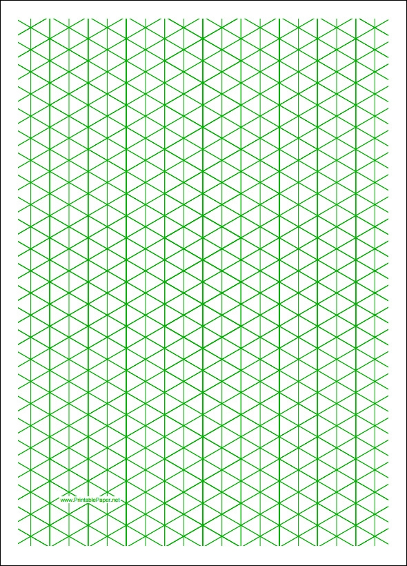 Isometric Graph Paper | Sample Templates