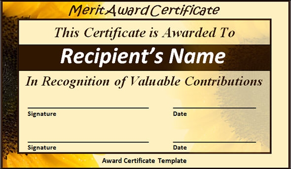 24 printable sample certificate templates
